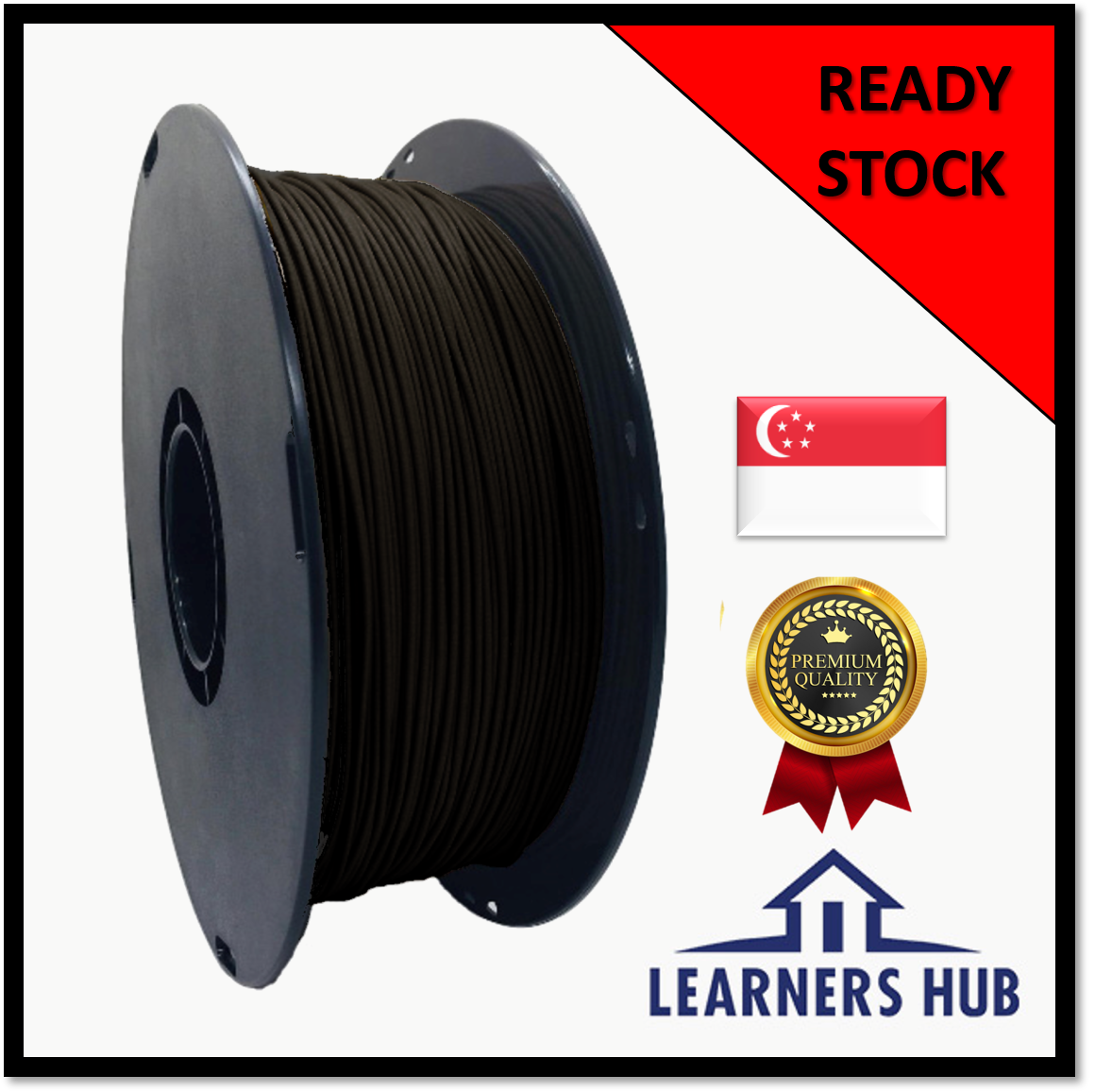 900g 1.75mm Black Wood PLA Filament