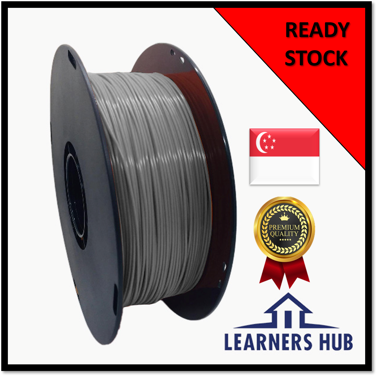 1kg 1.75mm Grey PLA Filament