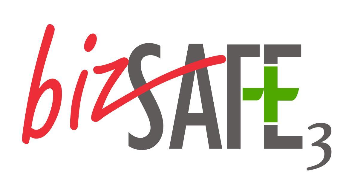 Bizsafe Logo Vinyl Stickers Level 3 4 Star