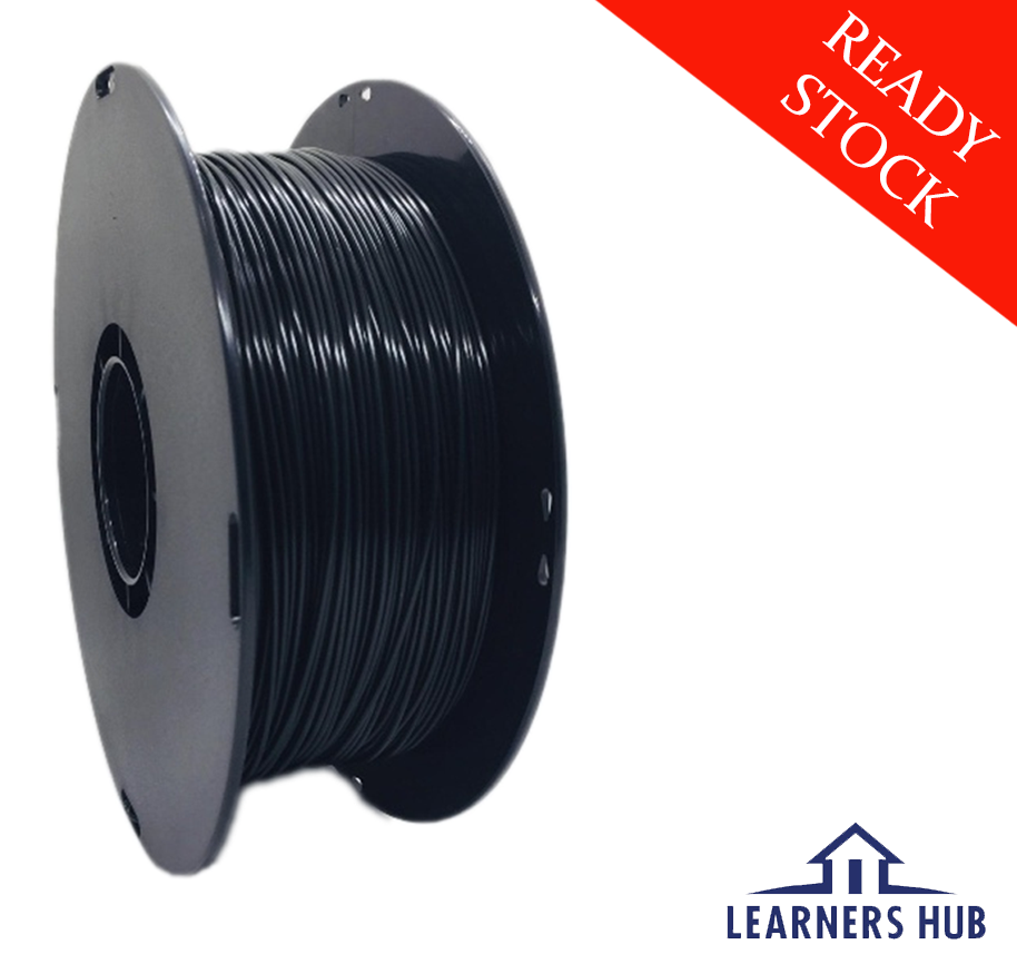 900g 1.75mm Black PLA Filament