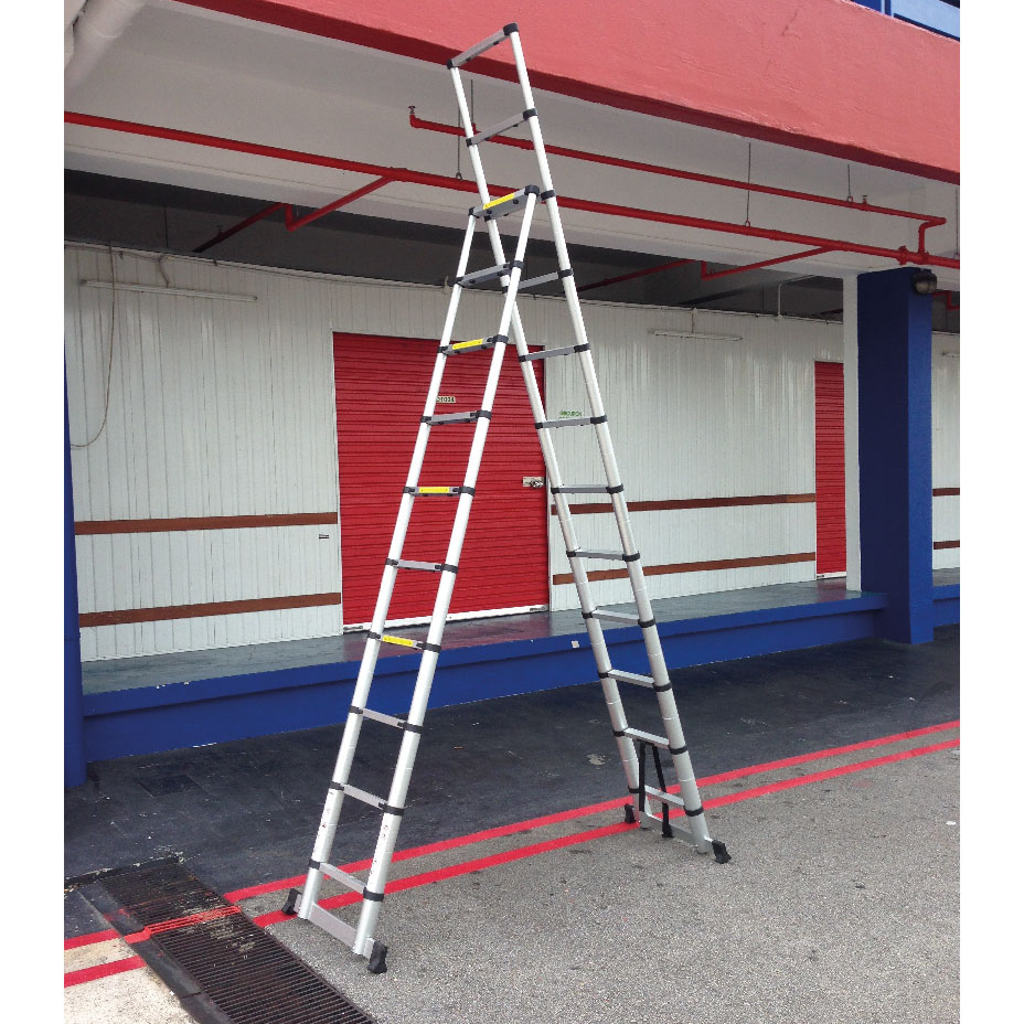 10+2 Steps - reach 4.6m - Tele-ProSteps Telescopic Ladder